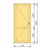 Входная алюминиевая дверь 111x260 см