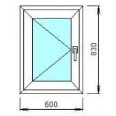 1-02-2Л: Готовое окно из ПВХ 60х83 см