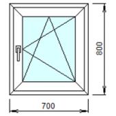 1-07: Готовое окно из ПВХ 70х80 см