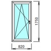 1-23-Л: Готовое окно из ПВХ 82х175 см