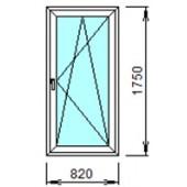 1-23-П: Готовое окно из ПВХ 82х175 см