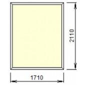Г-2-13: Глухое окно из ПВХ 171х211 см