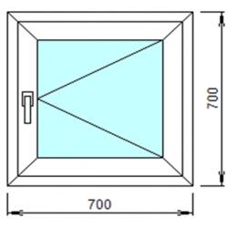 1-05: Готовое окно из ПВХ 70х70 см