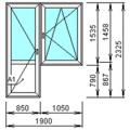 Балконный блок 1830 х 2470