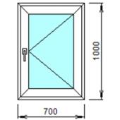1-10П: Готовое окно из ПВХ 70х100 см