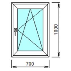 1-11П: Готовое окно из ПВХ 70х100 см