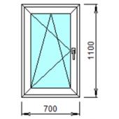 1-12Л: Готовое окно из ПВХ 70х110 см