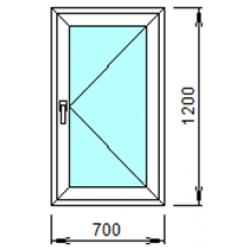 1-14П: Готовое окно из ПВХ 70х120 см