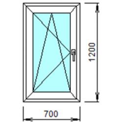 1-15Л: Готовое окно из ПВХ 70х120 см
