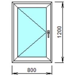 1-17Л: Готовое окно из ПВХ 80х120 см