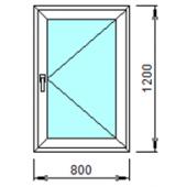 1-17П: Готовое окно из ПВХ 80х120 см