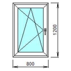 1-18Л: Готовое окно из ПВХ 80х120 см