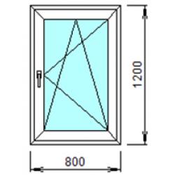 1-18П: Готовое окно из ПВХ 80х120 см