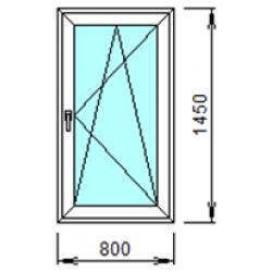 1-22П: Готовое окно из ПВХ 80х145 см