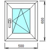 1-02П: Готовое окно из ПВХ 50х60 см