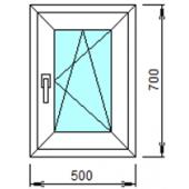 1-04П: Готовое окно из ПВХ 50х70 см