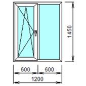 2-06Л: Готовое окно из ПВХ 120х145 см