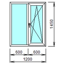 2-06П: Готовое окно из ПВХ 120х145 см