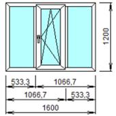 3-2: Готовое окно из ПВХ 160х120 см