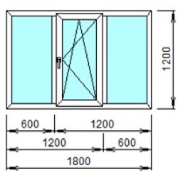 3-4: Готовое окно из ПВХ 180х120 см