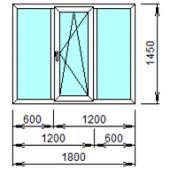 3-5: Готовое окно из ПВХ 180х145 см