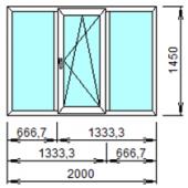 3-6: Готовое окно из ПВХ 200х145 см