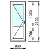 Входная дверь 1-Л из ПВХ 86x210 см