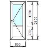 Входная дверь 1-П из ПВХ 86x210 см