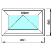 Ф-2: Готовая фрамуга из ПВХ 80х50 см