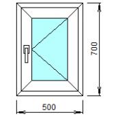 1-03П: Готовое окно из ПВХ 50х70 см