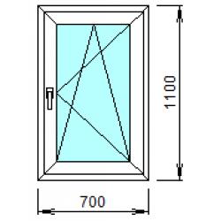 1-12П: Готовое окно из ПВХ 70х110 см