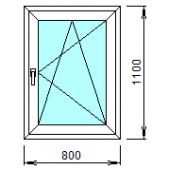 1-13П: Готовое окно из ПВХ 80х110 см