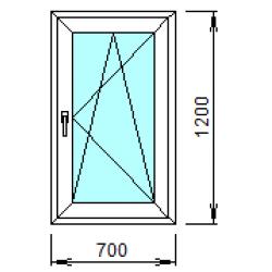1-15П: Готовое окно из ПВХ 70х120 см