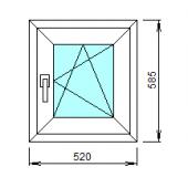 1-30-П: Готовое окно из ПВХ 52х58,5 см