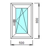 1-32-П: Готовое окно из ПВХ 50х80 см