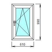 1-33-П: Готовое окно из ПВХ 61х99 см