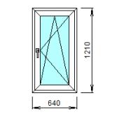 1-35-П: Готовое окно из ПВХ 64х121 см