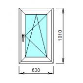 1-37-П: Готовое окно из ПВХ 63х101 см