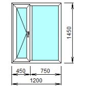 2-05Л: Готовое окно из ПВХ 120х145 см