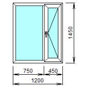 2-05П: Готовое окно из ПВХ 120х145 см
