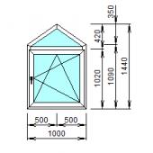 2-16: Окно из ПВХ 100х144 см