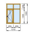 2-20: Окно из ПВХ 131х186 см